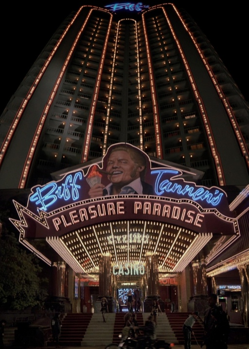 We stayed at The Plaza, which you may also know as Biff's Pleasure Paradise from Back to the Future